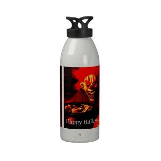 Scary Halloween Clown Design Water Bottles