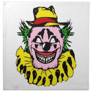 Scary Halloween Clown Napkin