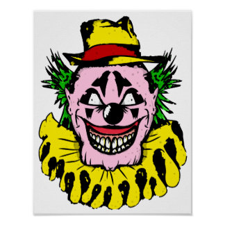 Scary Halloween Clown Poster