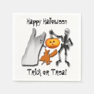Scary Halloween Creatures Paper Napkin
