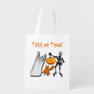 Scary Halloween Creatures Reusable Grocery Bag