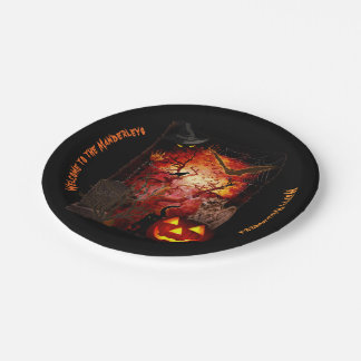 Scary Halloween (customizable) Paper Plate