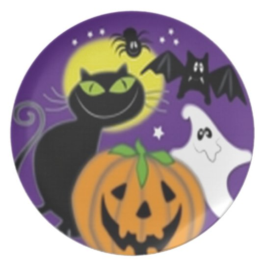 Scary Halloween design Plate