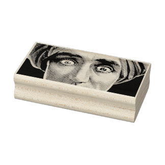 Scary Halloween Eyes Rubber Art Stamp