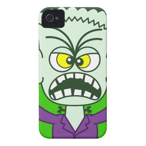 Scary Halloween Frankenstein Emoticon Case-Mate iPhone 4 Case