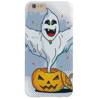 Scary Halloween Ghost with Pumpkin Barely There iPhone 6 Plus Case