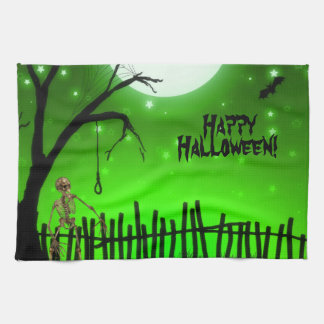 Scary Halloween Kitchen Towel