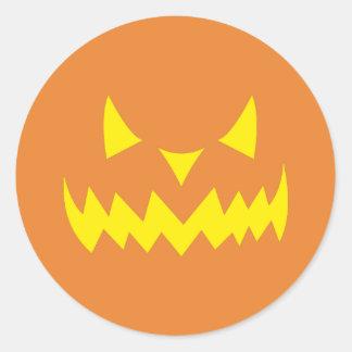 Scary Halloween Party Jackolantern Pumpkin Sticker