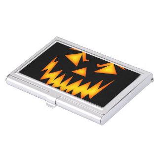 Scary Halloween Pumpkin Business Card Holder