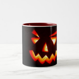 scary halloween pumpkin mug