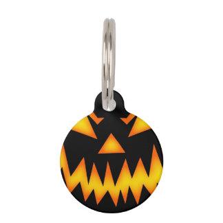 Scary Halloween Pumpkin Pet Name Tag