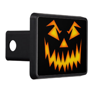 Scary Halloween Pumpkin Trailer Hitch Cover
