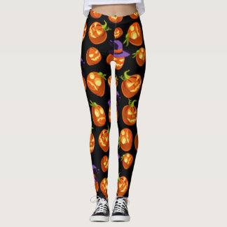 Scary Halloween Pumpkins Leggings