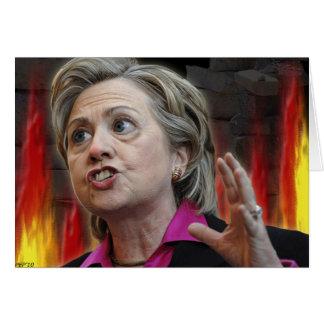Scary Hillary Card