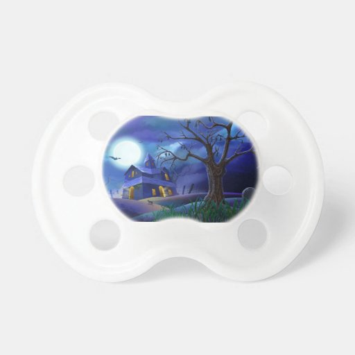 Scary House Baby Pacifier