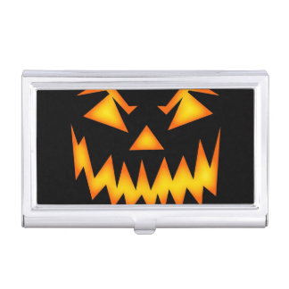 Scary Jack O Lantern Face Case For Business Cards