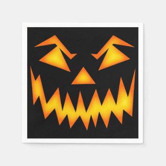 Scary Jack O Lantern Face Disposable Napkin