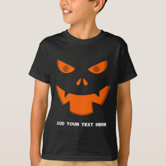 Scary Jack O Lantern Pumpkin Face Halloween T-Shirt