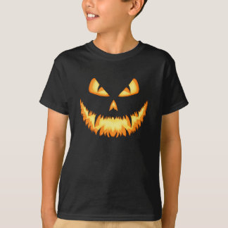 Scary Jack O Lantern with an evil grin and hungry Shirts