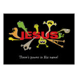 Scary Jesus Poster
