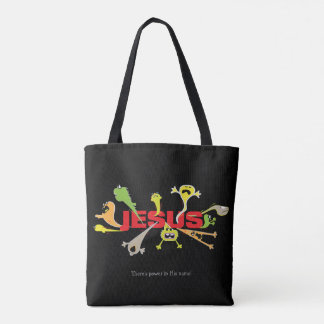 Scary Jesus Tote Bag
