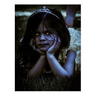 Scary Little Girl Postcard