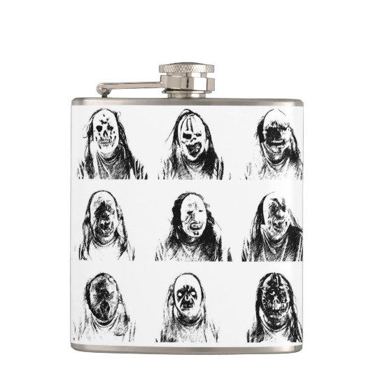 Scary Masks Hip Flask