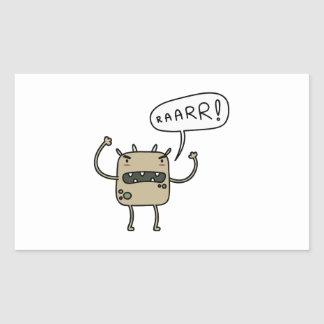 Scary Monster Rectangular Stickers