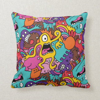 Scary Monsters Throw Pillow