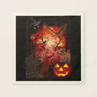 Scary Napkin for your Halloween Party Disposable Napkins