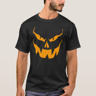 Scary O Lantern orange on black T-Shirt
