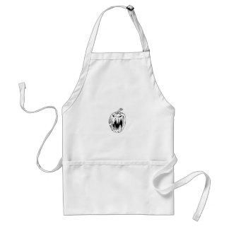 Scary pumpkin standard apron