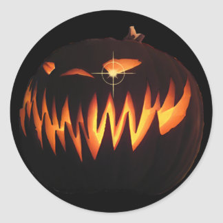 Scary Pumpkin Sticker