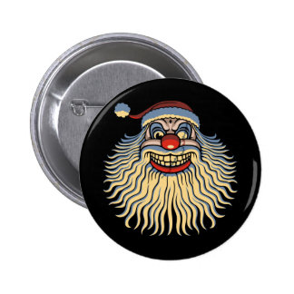 Scary Santa Clown 2 Inch Round Button