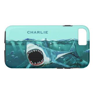 Scary Shark custom name phone cases
