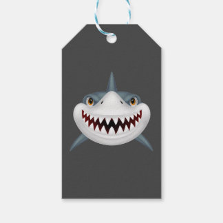 Scary Shark Pack Of Gift Tags