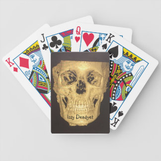 Scary Skull Bicycle Playing Cards