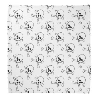 Scary Skull Crossbones Halloween Accessories Bandana
