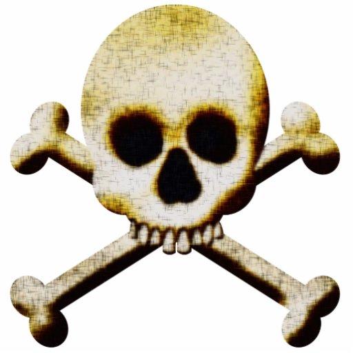 Scary Skull Crossbones Halloween Decoration Photo Sculpture
