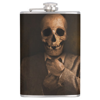 Scary Skull Man in Suit Flasks