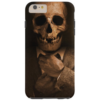 Scary Skull Man in Suit Tough iPhone 6 Plus Case