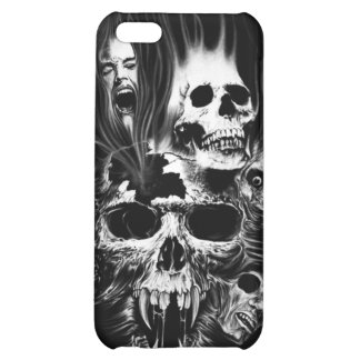 SCARY SKULLS CASE FOR iPhone 5C