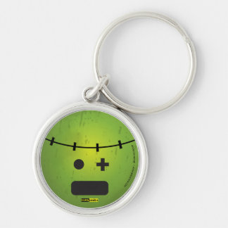 Scary Smiles - Frankenstein Silver-Colored Round Keychain