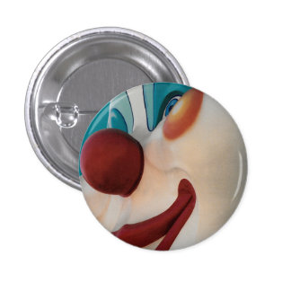 Scary Smiling Circus Clown Small Button