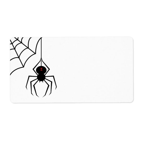 Scary Spider Labels