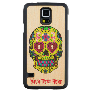 Scary Sugar Skull Carved Maple Galaxy S5 Case