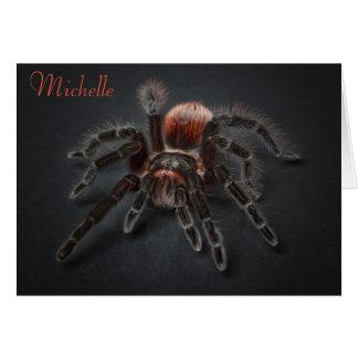 Scary Tarantula Spider Arachnophobia Aging Card