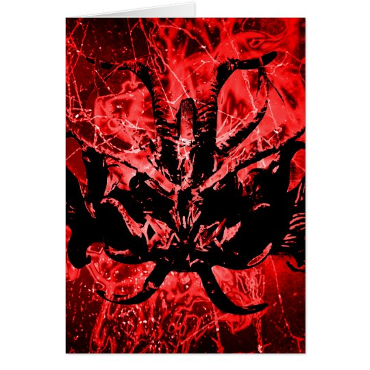 Scary Tribal Mask Card