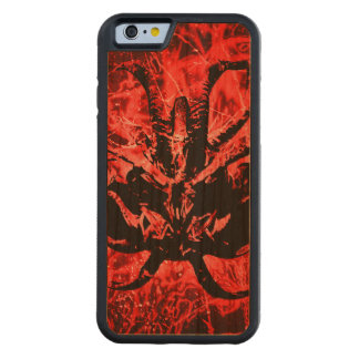 Scary Tribal Mask Carved Cherry iPhone 6 Bumper Case