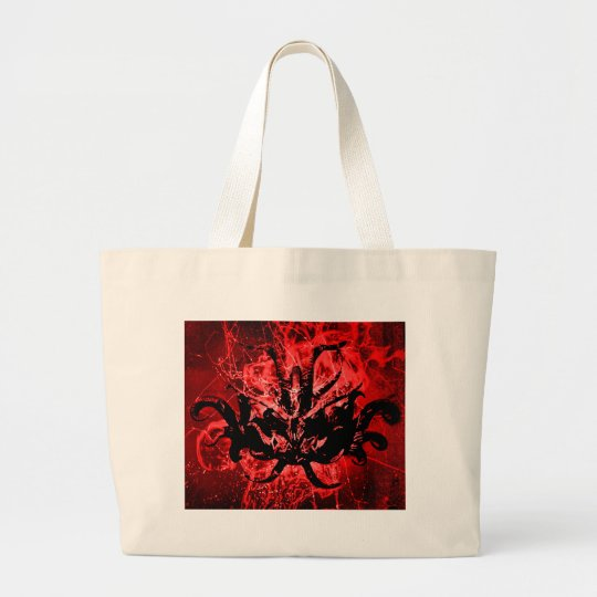 Scary Tribal Mask Large Tote Bag